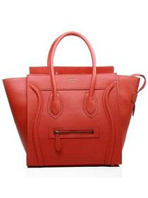 2013 Celine luggge tote tote handbag 3308 cherry red