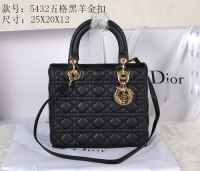 2014 Dior sheep skin gold chain 5432 black