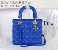 2014 Dior sheep skin gold chain 5432 blue