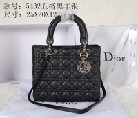 2014 Dior sheep skin silver chain 5432 black