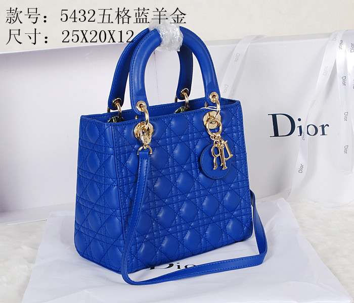 2014 Dior 5432 Blue Gold Chain
