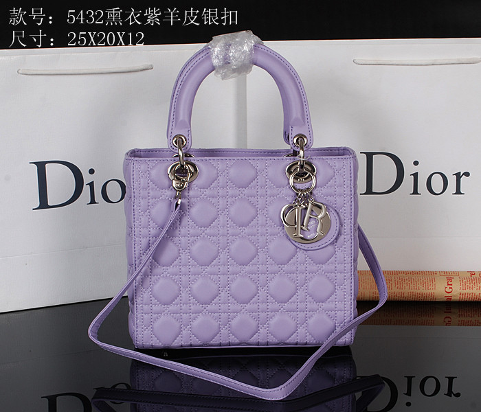 2014 Dior 5432 Light Purple Silver Chain