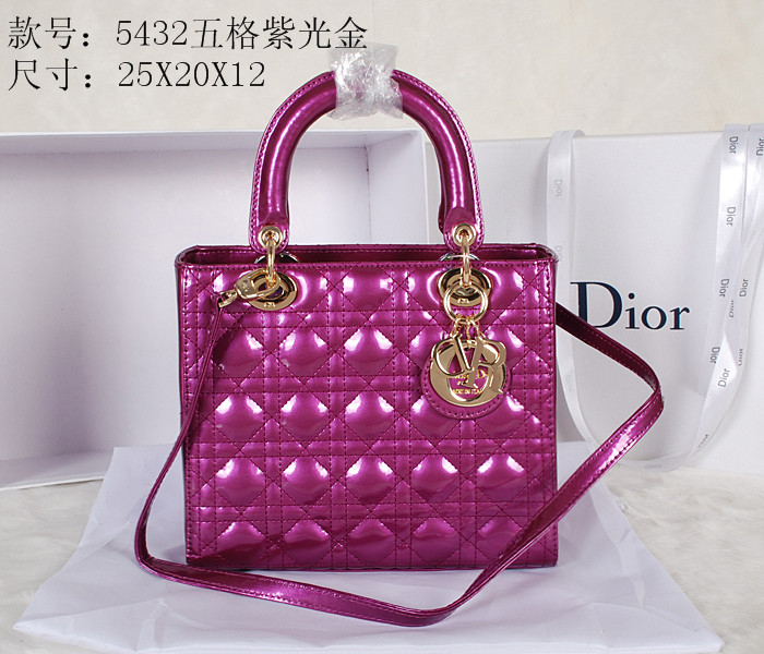 2014 Dior 5432 Purple Gold Chain
