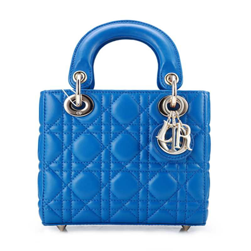2014 Dior Original leather 44552 Blue gold chain