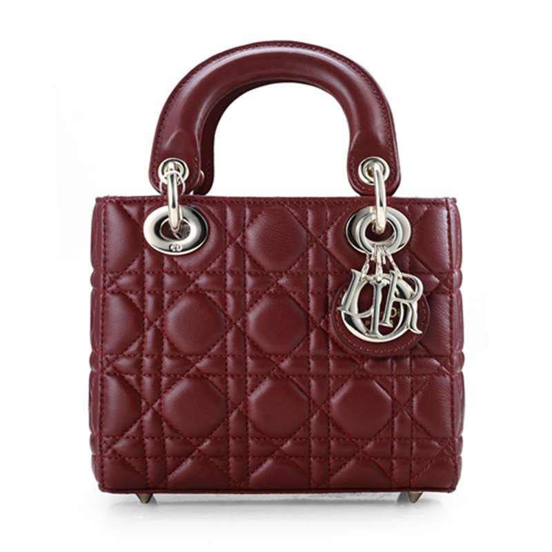 2014 Dior Original leather 44552 red wine gold chain