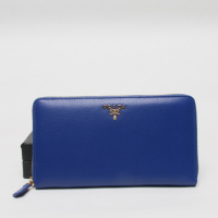 prada Leather Wallet 1188 blue