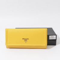 Prada calf Leather Wallet 1M1132 yellow