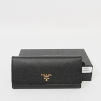 Prada Leather Wallet 1M1335 black