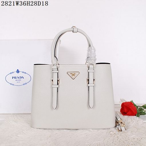 2015 Prada spring and summer new models 2821 rice white