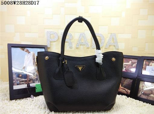 2015 Prada new model shopping bag 5008 black