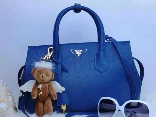 2015 Prada tote bag 2278 Blue