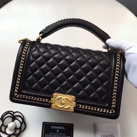 Chanel Sheepskin Leather Shoulder Bag 94804 black