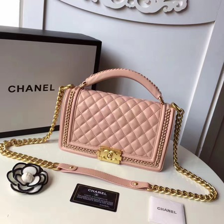 Chanel Sheepskin Leather Shoulder Bag 94804 pink