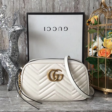 Gucci GG Marmont Matelasse Shoulder Bag 447632  Beige