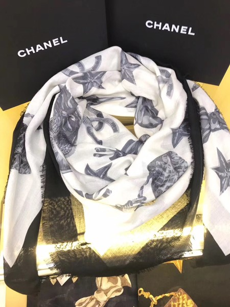 2017 top quality Chanel scarf 8245 white