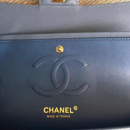 Chanel Flap Shoulder Bags Light blue Leather CF 1112V gold chain