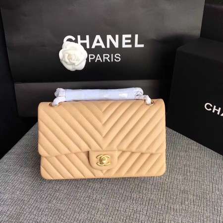 Chanel Flap Shoulder Bag Original sheepskin Leather CF 1112V apricot gold chain