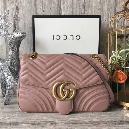 Gucci GG Marmont Shoulder Bag 443496 Pink
