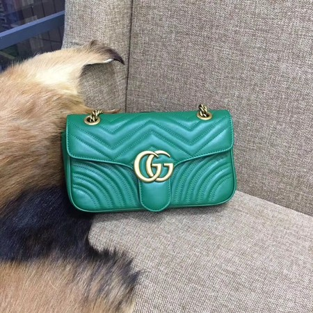 Gucci GG Marmont Shoulder Bag 443496 green