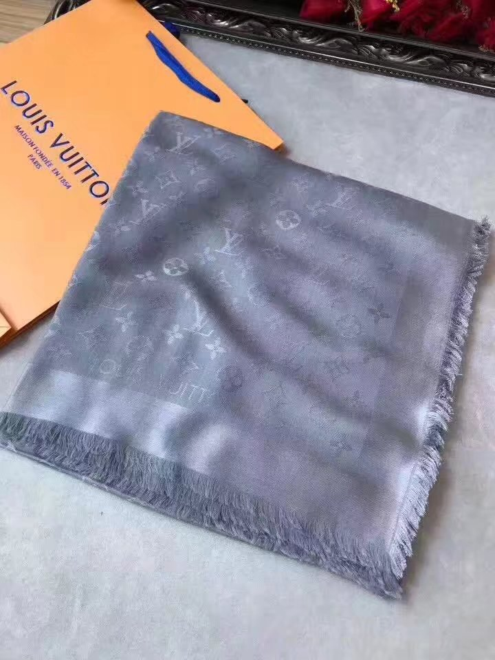 louis vuitton Cashmere scarf LV9219 gray
