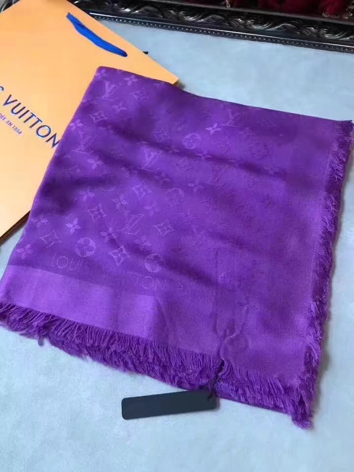 louis vuitton Cashmere scarf LV9219 purple
