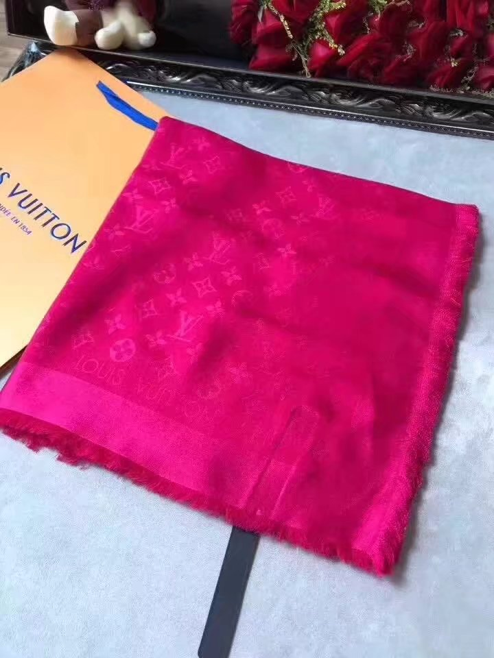louis vuitton Cashmere scarf LV9219 rose