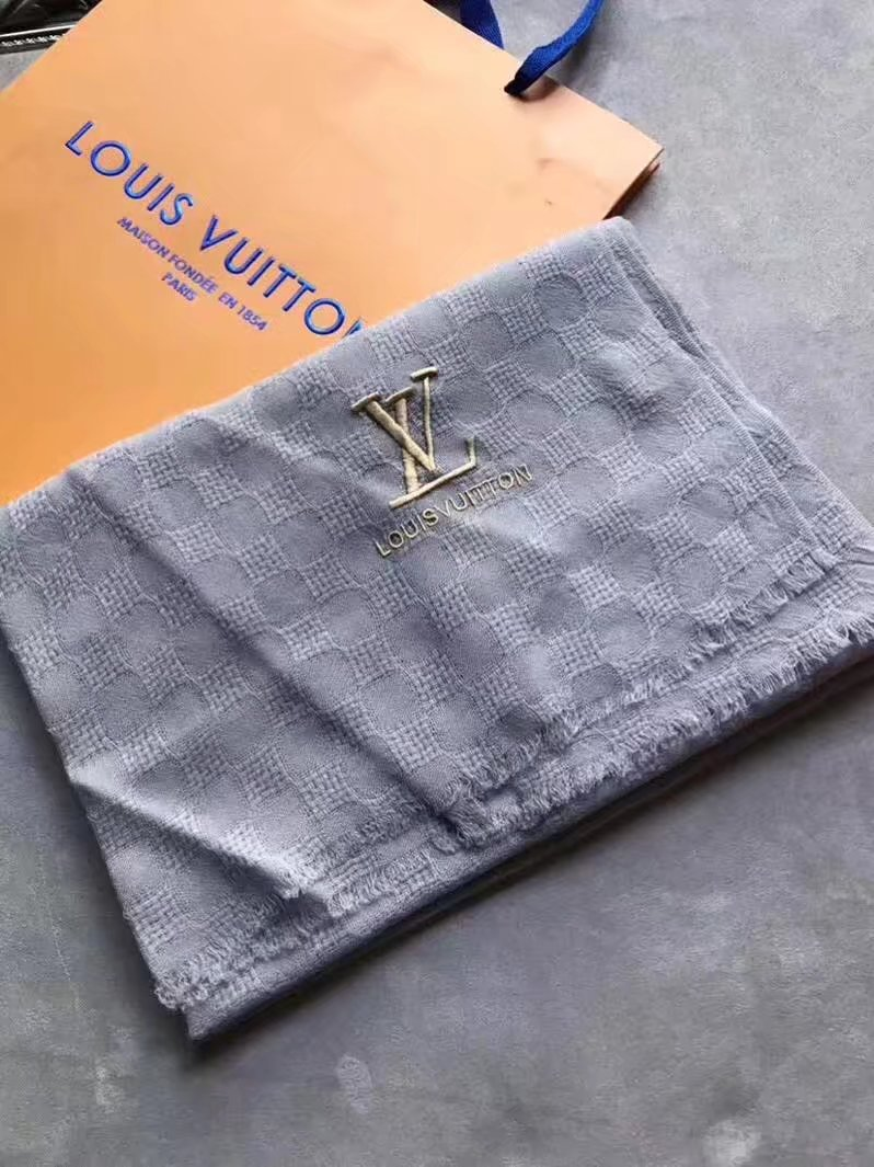 louis vuitton Cashmere scarf LV9223 gray