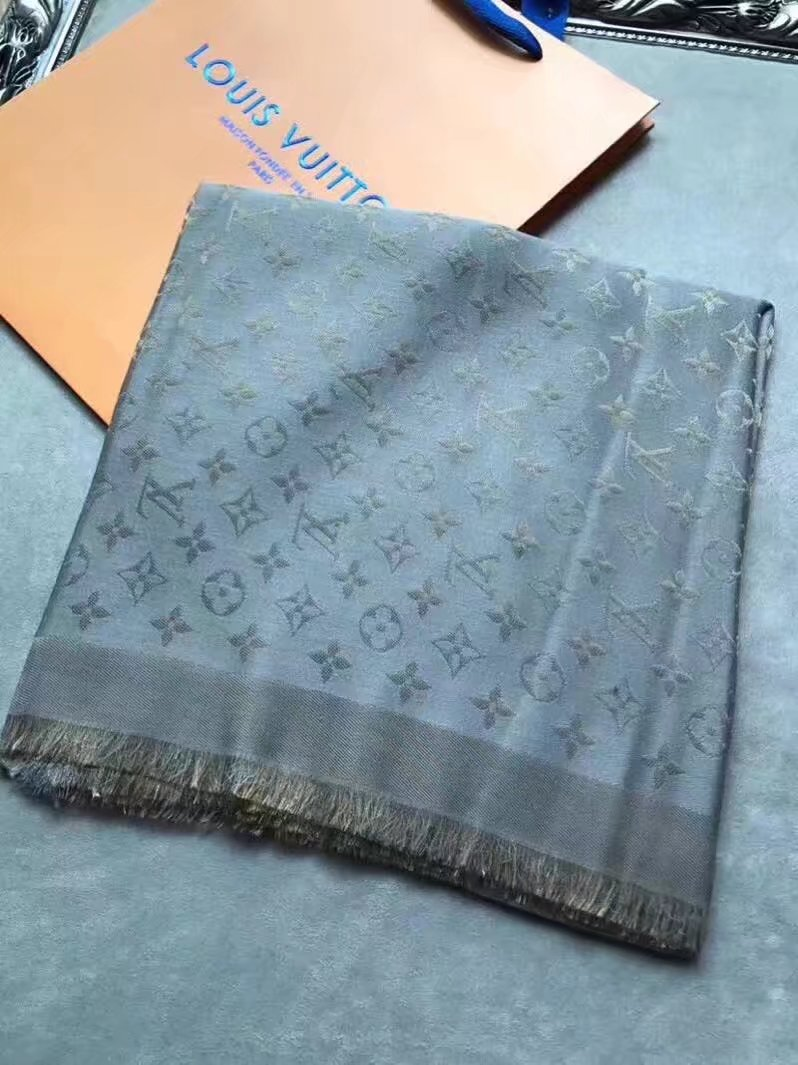 louis vuitton Cashmere scarf LV9224 gray