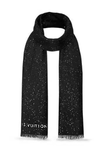 louis vuitton wool scarf LV919968 black