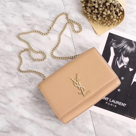 Yves Saint Laurent Monogramme Cross-body Shoulder Bag 311228 Apricot