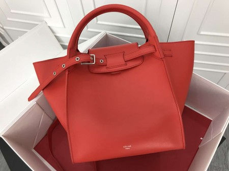 Celine the big bag calf leather Tote Bag  183313 red