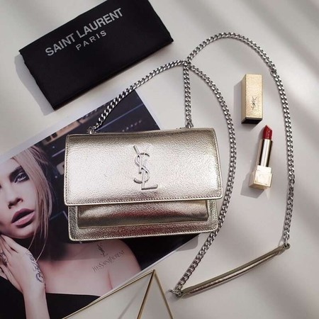 Yves Saint Laurent Original leather mini Shoulder Bag 452157 gold