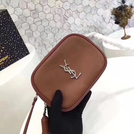 Yves Saint Laurent Original Calf leather mini Shoulder Bag 5804 brown