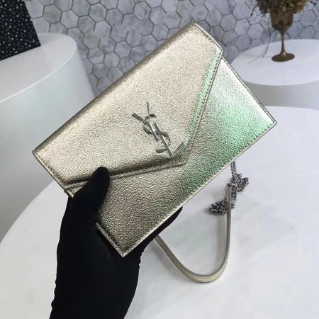 ysl small kate satchel original Calf leather 2822 gold