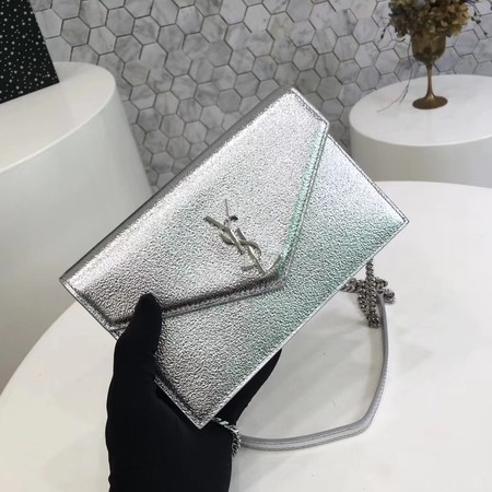 ysl small kate satchel original Calf leather 2822 silver silver chain