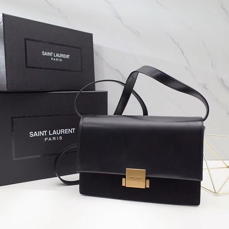 Yves saint Laurent Classic Monogramme Flap Bag Calf leather 482044 black