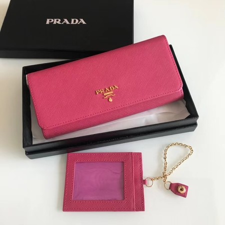 Prada original Cattle leather Wallet 1MH132 peach