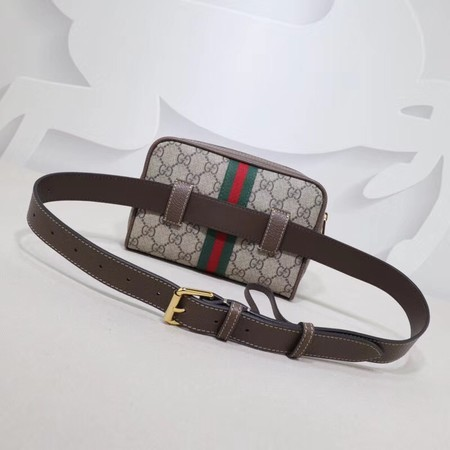 Gucci GG canvas ophidia supreme small waist pack 517076 brown