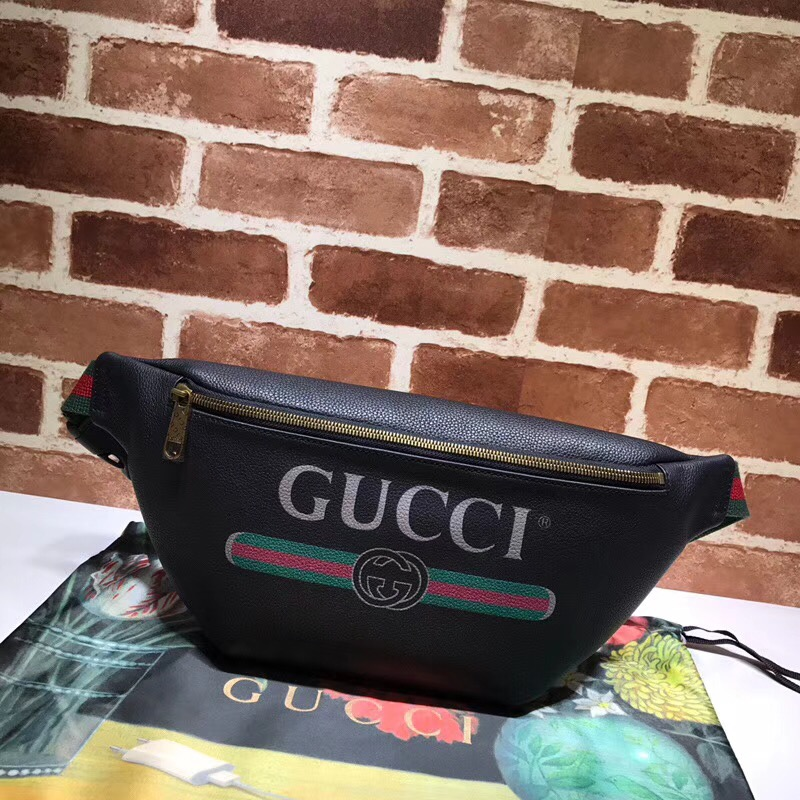 Gucci GG Coco waist pack 493869 black original leather