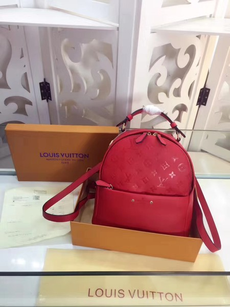 Louis Vuitton Monogram Empreinte Calf Leather Backpack M44019 red