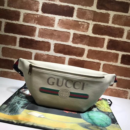 Gucci GG original leather waist pack 493869 creamy-white