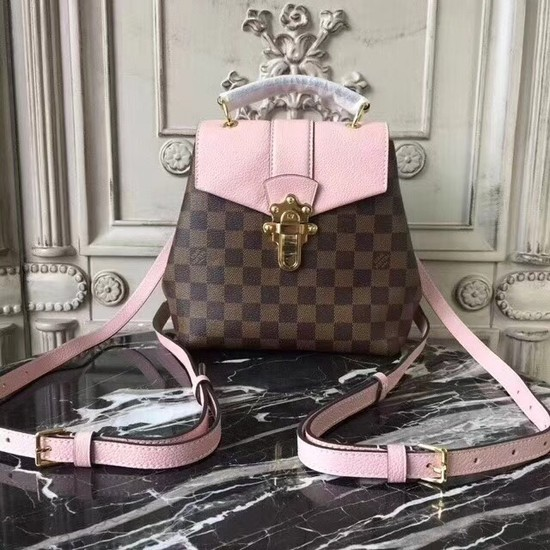 Louis vuitton hot springs backpack Original leather CLAPTON 42259 pink