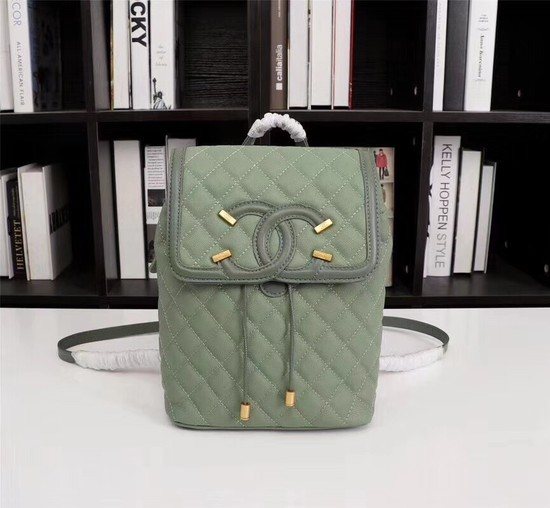 Chanel Caviar Leather Backpack 83430 green