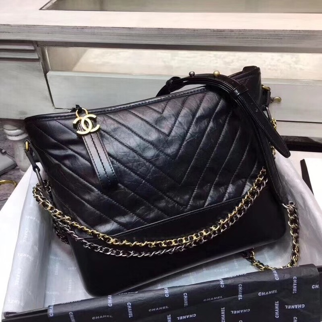 CHANEL GABRIELLE Hobo Bag A93825 black