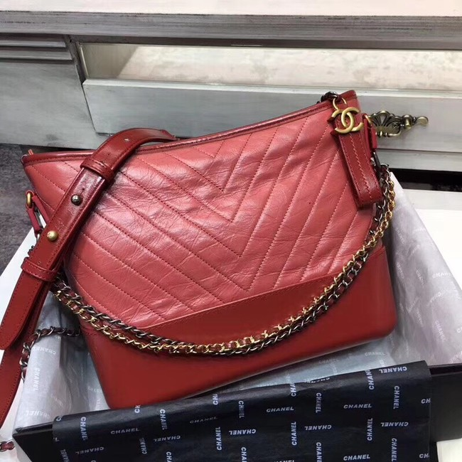 CHANEL GABRIELLE Hobo Bag A93825 RED