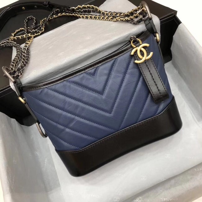 CHANEL GABRIELLE Hobo Bag A93824 blue&black
