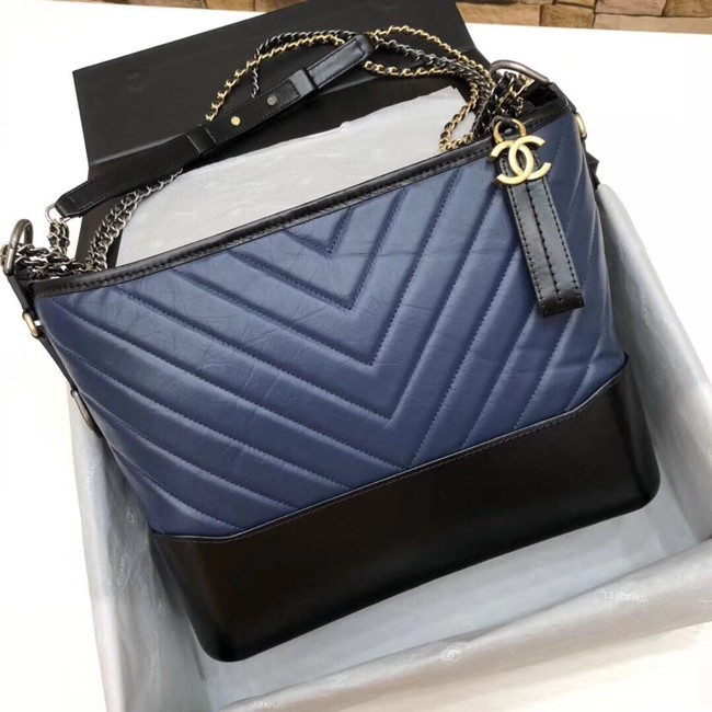 CHANEL GABRIELLE Hobo Bag A93825 blue&black