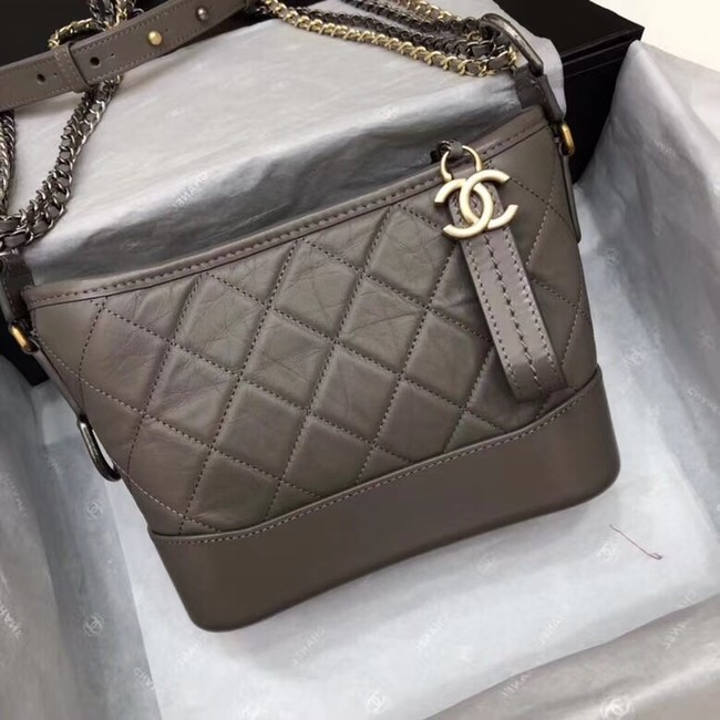 Chanel Gabrielle Original Calf leather Shoulder Bag 93841 grey
