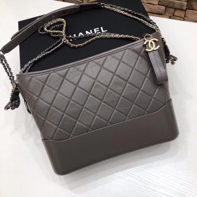 Chanel GABRIELLE Original Shoulder Bag A93842 grey