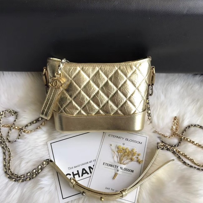 CHANEL GABRIELLE Original Small Hobo Bag A91810 gold